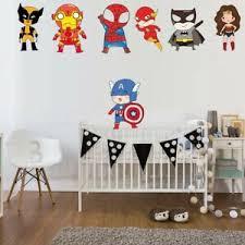 Funny Superhero Superman Wall Stickers For Kids Room Children Boys Nursery Decor Ebay