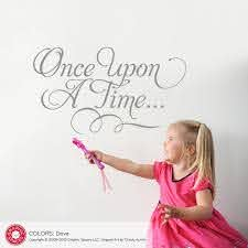 Once Upon A Time Wall Decal Princess Fairy Tale Baby Nursery Script Graphic Spaces