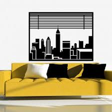 New York Street Wall Decal Jets Knicks Yankees Logo Design Mets Skyline Sticker Silhouette Uk Vamosrayos