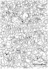 Huisdieren Dierendag Kleurboek Adult Coloring Pages Kleurplaten