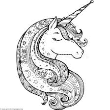 Zentangle Unicorn Coloring Pages Eenhoorn Paarden