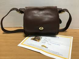authentic vintage coach brown leather