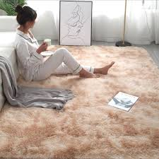 Best Price Dff66 New Shaggy Tie Dye Carpet Printed Alfombra Plush Floor Fluffy Mats Kids Room Faux Fur Area Rug Living Room Mats Silky Rugs Cicig Co