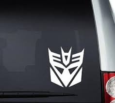 Transformer Decepticon Window Decal Sticker Custom Sticker Shop