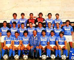 La rosa e la formazione titolare del Napoli Campione d'Italia 1987 ...