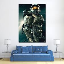 halo master chief block giant wall art