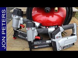250 Nail Gun Compressor Combo Kit Test Review Youtube