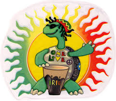 Rasta Turtle One Love Window Sticker Decal Peace Resource Project