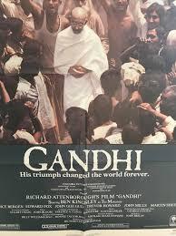 Gandhi US One Sheet Film Poster 1982 Ben Kingsley as The Mahatma
