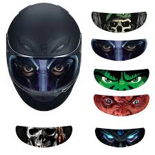 Cool Applique Personality Film Translucent Lens Decal Motorcycle Helmet Decoration Sticker Detachable Racing Helmet Lens Visor Decals Stickers Aliexpress