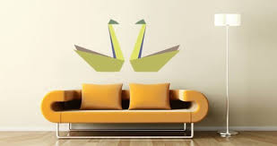 Paper Swan Wall Decals Dezign With A Z