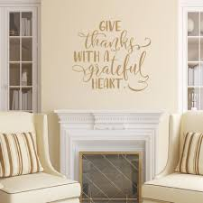 Give Thanks With A Grateful Heart Vinyl Wall Decal 22640 Style B Cuttin Up Custom Die Cuts