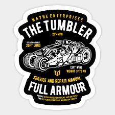 The Tumbler Batman Sticker Teepublic Au