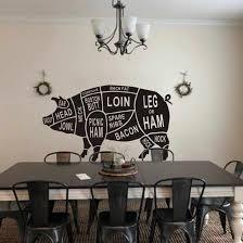 Restaurant Vinyl Wall Mural Animal Body Parts Anatomy Wall Sticker Cuts Of Pig Removable Wall Decal Kitchen Wallpaper Art Aj579 Wall Stickers Aliexpress