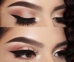 brown gold eye makeup cat eye makeup
