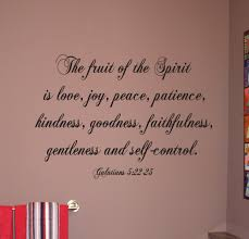 Script Fruit Of The Spirit Beautiful Wall Decals
