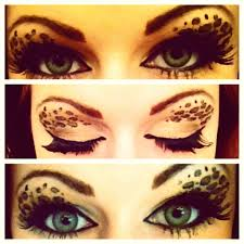 make cheetah print eye makeup