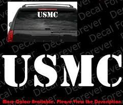 Large Usmc United States Marine Corps Vinyl Car Decal Decal Sticker Window Ay008 Ebay
