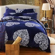 minium blue comforter sets bohemian bed