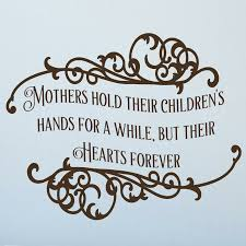 Enchantingly Elegant Mothers Hold Their Children S Hands Vinyl Wall Decals Wayfair
