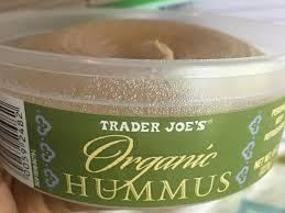 organic hummus dip nutrition facts