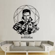 Strange Doctor Marvel Character Strange Mage Movie Poster Home Bedroom Living Room Background Wall Decoration Hollowed Out Wall Wall Stickers Aliexpress