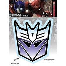 Transformers St Tf Decp01 Decepticon Shield Logo Car Window Decal Sticker 44 Purple Wish
