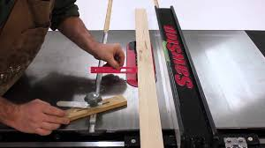 Ripping Narrow Stock With Your Sawstop Table Saw Youtube