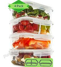 compartment glass meal prep containers