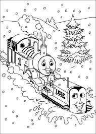 Thomas The Train Christmas Coloring Pages In 2020 Kleurplaten