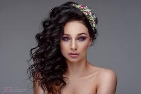 model portrait long hair