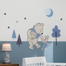 Winnie The Pooh Wall Vinyl Decal Nursery Baby Shower Gift Pooh Theme Decor Art