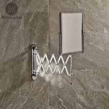 chrome framed wall mounted bathroom