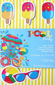 Pool Party Ideas Kids Summer Printables Fiestas En La Piscina