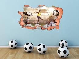 Full Colour Football Wall Art Modern Transfer Pvc Decal 3d Window Sticker