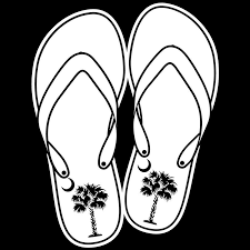 Palm Flip Flop 6 Decal Palmetto Moon
