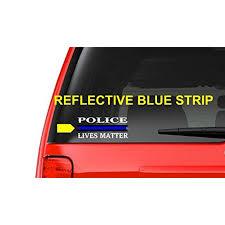 Police Lives Matter M17 Thin Blue Line Cop Police Sheriff Trooper Vinyl Decal Sticker Car Window Walmart Com Walmart Com