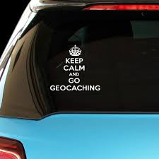 Amazon Com Pressfans Keep Calm And Go Geocaching Car Laptop Wall Sticker Automotive