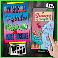 Tarjeta Digital Para Ninas Cumpleanos Eventos 100 00 En