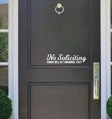 No Soliciting Sticker Decal Business Home Door Window Wall Sign Vinly Decals Home Garden Children S Bedroom Child Decor Decals Stickers Vinyl Art Ayianapatriathlon Com