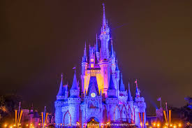 cinderella s castle at night 1 disney