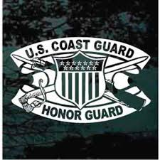 Us Coast Guard Honor Guard Car Window Decals Decal Junky