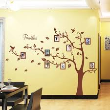 Family Forever Photos Brown Tree Wall Stickers For Home Decor Living Room Bedroom Wall Art Decoration Mural Removable Pvc Decal Aliexpress Com Imall Com