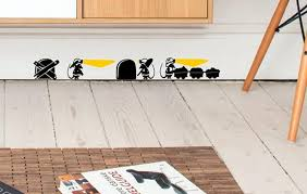 Mouse Fireman Fire Firefighter Wall Art Decal Stickers Gift Baseboard Vinyl
