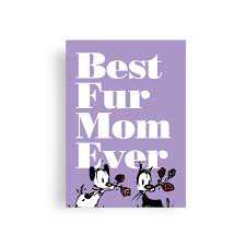 Fur Mom' Mother's Day Greeting Card ...