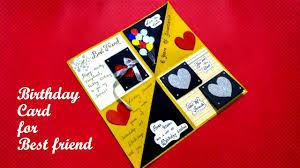 birthday card for best friend diy