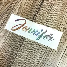Custom Holographic Vinyl Holo Glitter Vinyl Decal Holographic Name Decal Silver Sparkle Decal Holographic Glitter Name Sticker Rainbow Glitter Vinyl Decal Glitter Decal Name Stickers