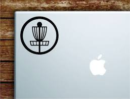 Disc Golf Basket V2 Laptop Wall Decal Sticker Vinyl Art Quote Macbook Boop Decals