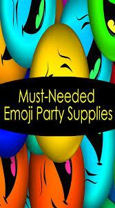 Suministros Imprescindibles Para Fiestas Emoji Partituki