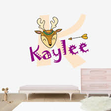 Colorful Deer Of Indian Wall Decal Nursery Stickers Decoration Baby Boy Girls Krafmatics